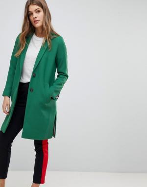 Esprit Строгий блейзер. Цвет: зеленый