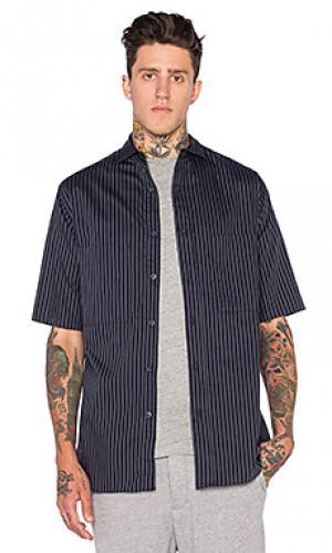 Рабочая рубашка с коротким рукавом Wil Fry. Цвет: синий