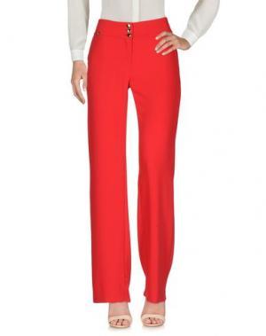 Повседневные брюки W LES FEMMES. Цвет: красный