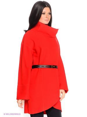 Пальто HAUBER. Цвет: красный