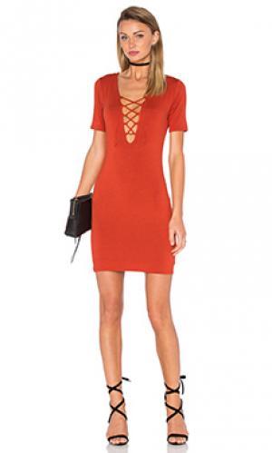 Мини платье carley De Lacy. Цвет: ржавый