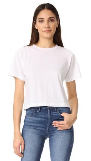 Укороченная футболка в стиле «бойфренд» 3x1. Цвет: шампанское