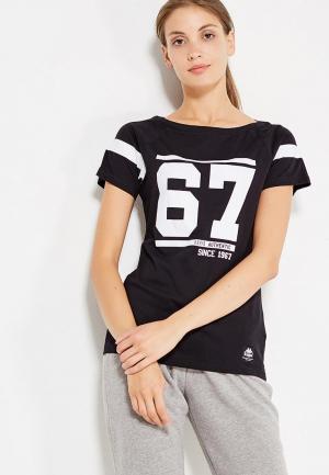 Футболка Kappa. Цвет: черный