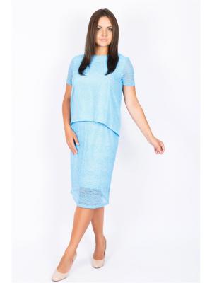 Блузка SOFIANA. Цвет: голубой