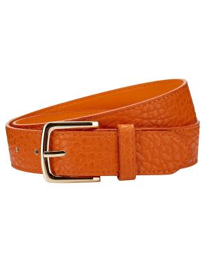 Ремень Oodji. Цвет: оранжевый