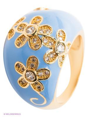 Кольцо Happy Garnets. Цвет: голубой