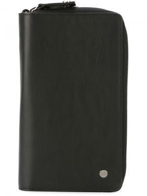 Бумажник дизайна колор-блок Borbonese. Цвет: чёрный