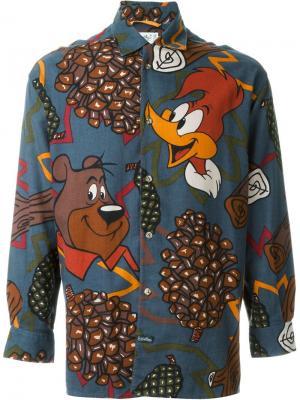 Рубашка с принтом анимационных героев Jc De Castelbajac Vintage. Цвет: чёрный