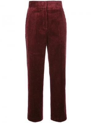 Укороченные брюки с завышенной талией H Beauty&Youth. Цвет: красный