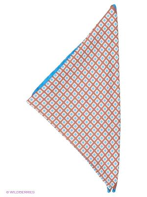 Платок-паше Troy collezione. Цвет: серо-коричневый, белый, голубой