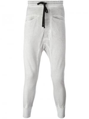 Спортивные брюки с заниженной проймой Thom Krom. Цвет: серый