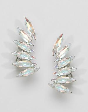 Krystal Каффы с кристаллами Swarovski. Цвет: серебряный
