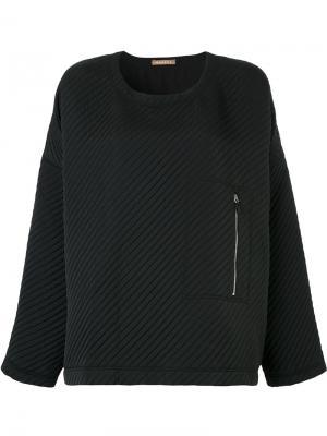 Стеганый свитер Tesla Nehera. Цвет: чёрный