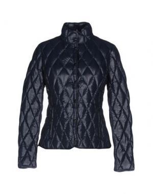 Пуховик BPD BE PROUD OF THIS DRESS. Цвет: темно-синий