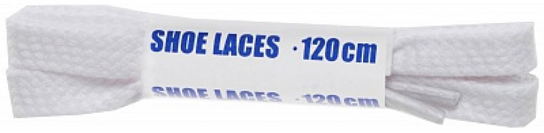 Шнурки белые плоские  Sport, 120 см Woly. Цвет: белый