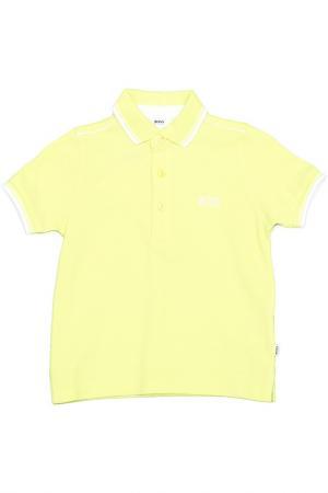 Поло Hugo Boss. Цвет: желтый