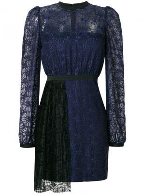 Платье Mercredi с плиссировкой спереди Three Floor. Цвет: синий