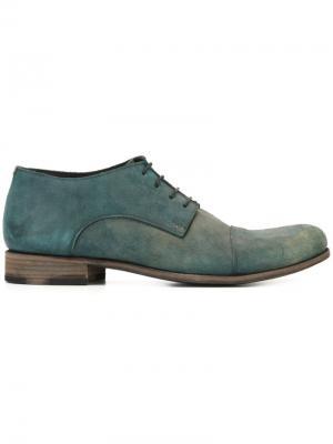 Туфли Оксфорды с потертой отделкой Ma+. Цвет: синий
