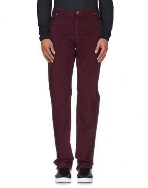 Джинсовые брюки FRED PERRY. Цвет: баклажанный