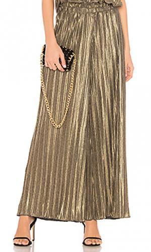 Широкие брюки minamalista Cosabella. Цвет: металлический золотой