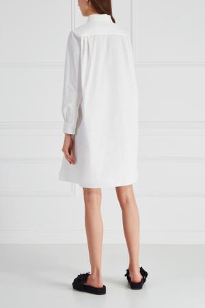 Хлопковое платье-рубашка Cyrille Gassiline. Цвет: молочный