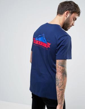 Penfield Эксклюзивная темно-синяя футболка с логотипом на спине. Цвет: темно-синий