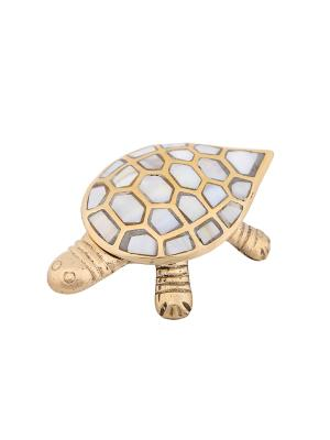 Пепельница-шкатулка с перламутром Черепаха ГАНГ. Цвет: золотистый