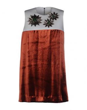 Короткое платье DELPOZO. Цвет: коричневый