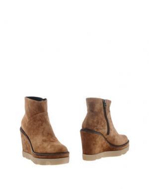 Полусапоги и высокие ботинки JANET SPORT. Цвет: верблюжий