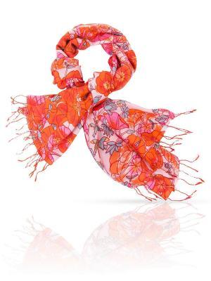 Палантин MICHEL KATANA`. Цвет: красный, светло-голубой, светло-оранжевый