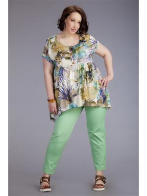Блузка AVERI. Цвет: светло-зеленый, сиреневый, светло-коричневый, белый