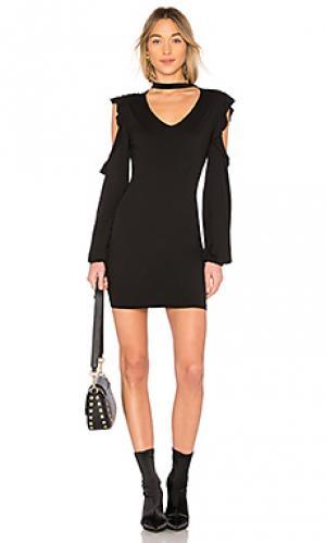 Платье с чокером Pam & Gela. Цвет: черный