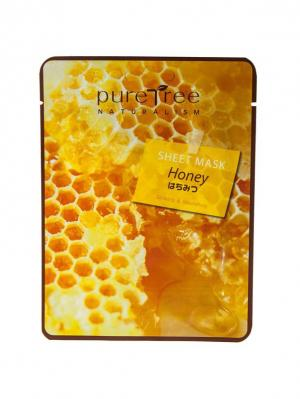 Тканевая маска с экстрактом мёда PURE TREE 20 гр.*5 шт.. Цвет: светло-оранжевый, оранжевый