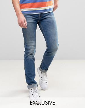 Levis Выбеленные джинсы скинни с оранжевым ярлыком 510. Цвет: синий