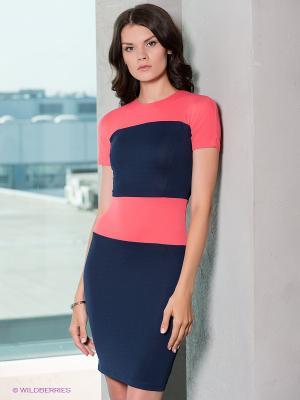 Платье Verezo. Цвет: темно-синий, коралловый