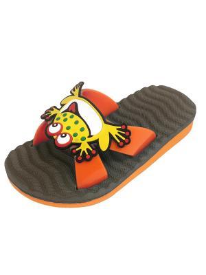 Шлепанцы TINGO. Цвет: серый, оранжевый
