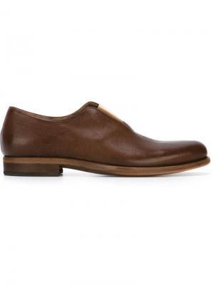 Туфли Дерби с эластичной вставкой Cherevichkiotvichki. Цвет: коричневый
