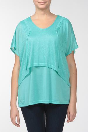 Комплект: блузка, топ KRATOS. Цвет: ментоловый
