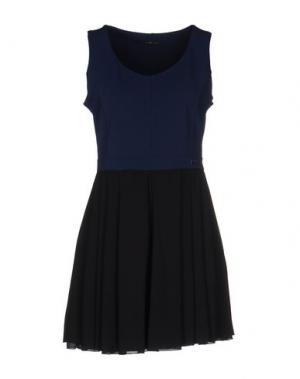 Короткое платье YES ZEE BY ESSENZA. Цвет: темно-синий