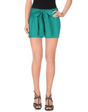 Повседневные шорты PINK BOW. Цвет: зеленый