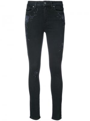 Декорированные джинсы скинни Paige. Цвет: чёрный