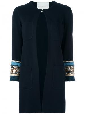 Embellished sleeve jacket Giada Benincasa. Цвет: синий
