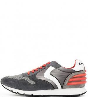 Серые кроссовки с вкладной стелькой VOILE BLANCHE. Цвет: серый