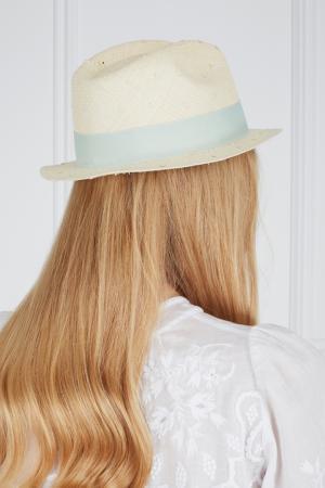 Соломенная шляпа Urbano Natural Knots Artesano. Цвет: кремовый, мятный