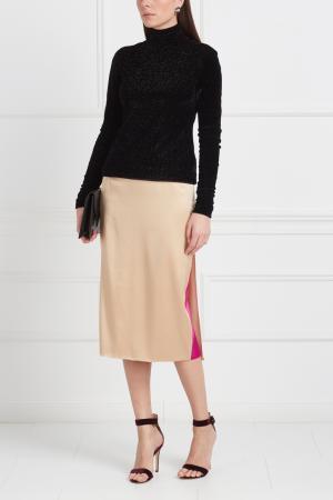 Однотонная юбка Viva Vox. Цвет: бежевый