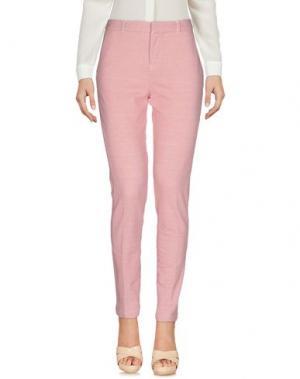 Повседневные брюки CIRCOLO 1901. Цвет: пастельно-розовый