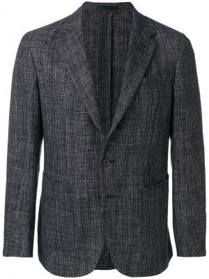 Пиджак с застежкой на две пуговицы Caruso. Цвет: синий