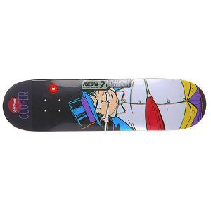 Дека для скейтборда  Cooper Villain Penguin Multicolor 31.7 x 8 (20.3 см) Almost. Цвет: белый,мультиколор