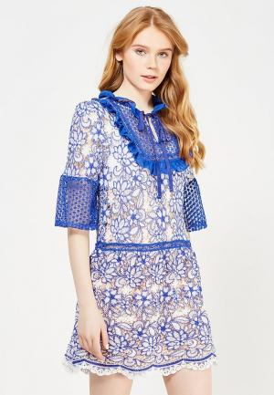 Платье Danity. Цвет: синий