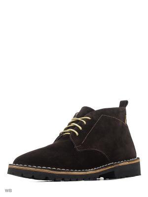 Ботинки renne. Цвет: темно-коричневый